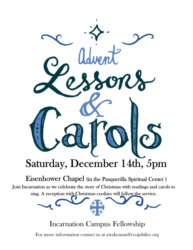 Advent Lessons and Carols Poster 2019